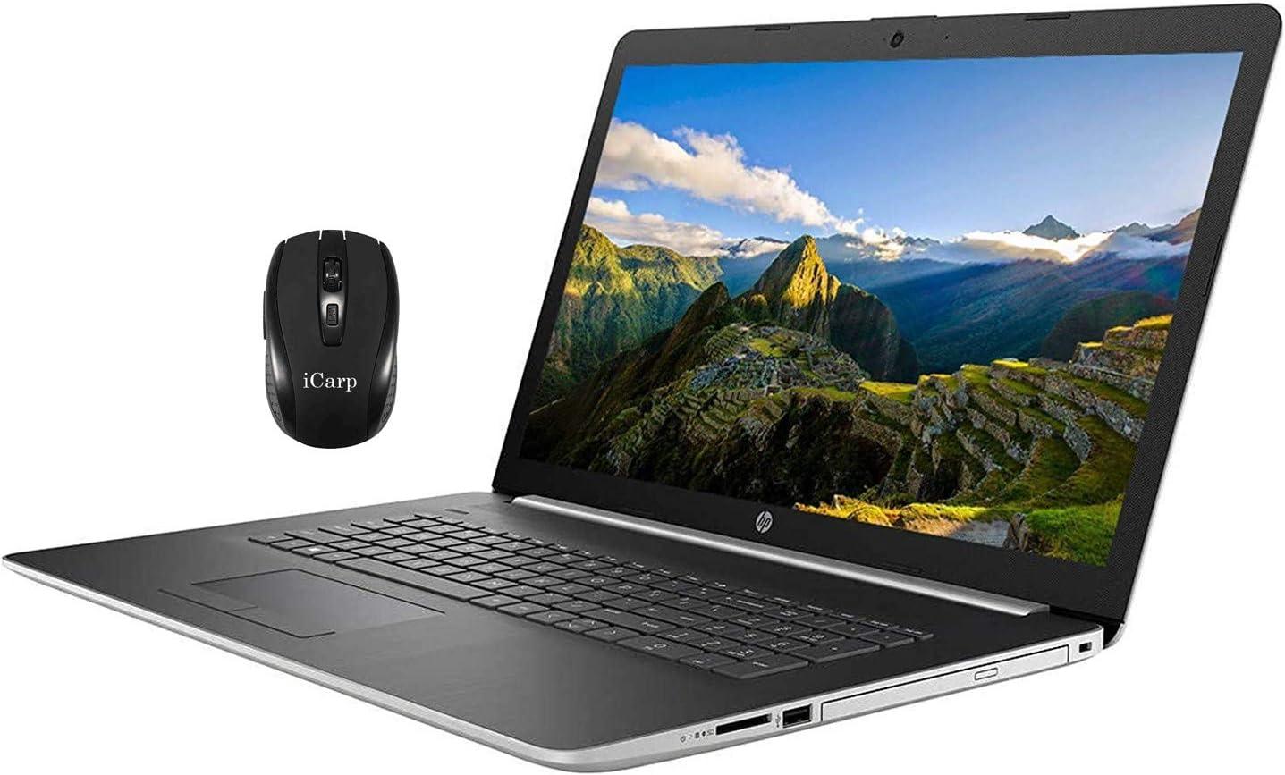 "2020 Flagship HP 17 Laptop Computer 17.3"" Full HD IPS Display 10th Gen Intel Quad-Core i5-1035G1 (Beats i7-8550U) 8GB DDR4 256GB SSD DVD Backlit KB WiFi HDMI Webcam Win 10 + iCarp Wireless Mouse"