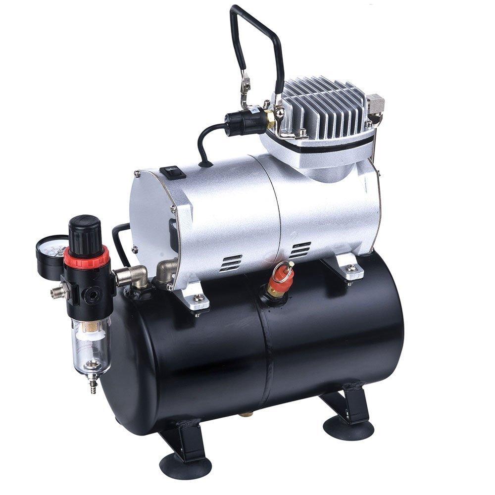 DOBLE ACCIÓN Gravedad AERÓGRAFO alimentación SET KIT tanque del compresor de aire Hobby artesanía Arte AS186K30: Amazon.es: Bricolaje y herramientas
