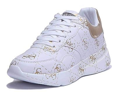 2017 Guess Sneakers Femmes Bianco Bianco Vente basket
