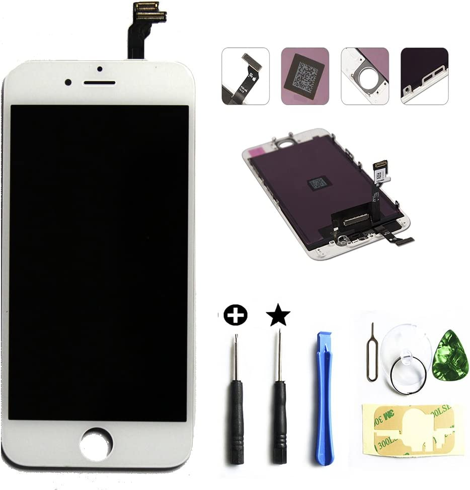 Global Repair for iPhone 6 4.7 Inch A1549, A1586, A1589 LCD Screen Replacement Digitizer Frame Assembly in White