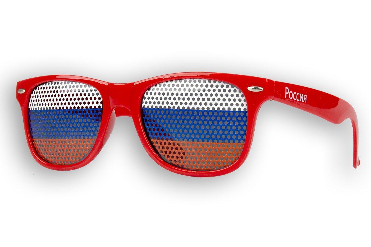 10 x - Fanbrille - Sonnenbrille - Russland - Brille - Rot - Russia - Россия - Fan Artikel lPQKybT