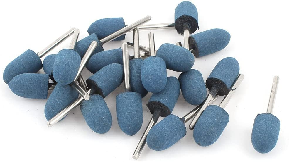 12mm Conical Head Blue Rubber Polishing Mounted Point 22 Pcs