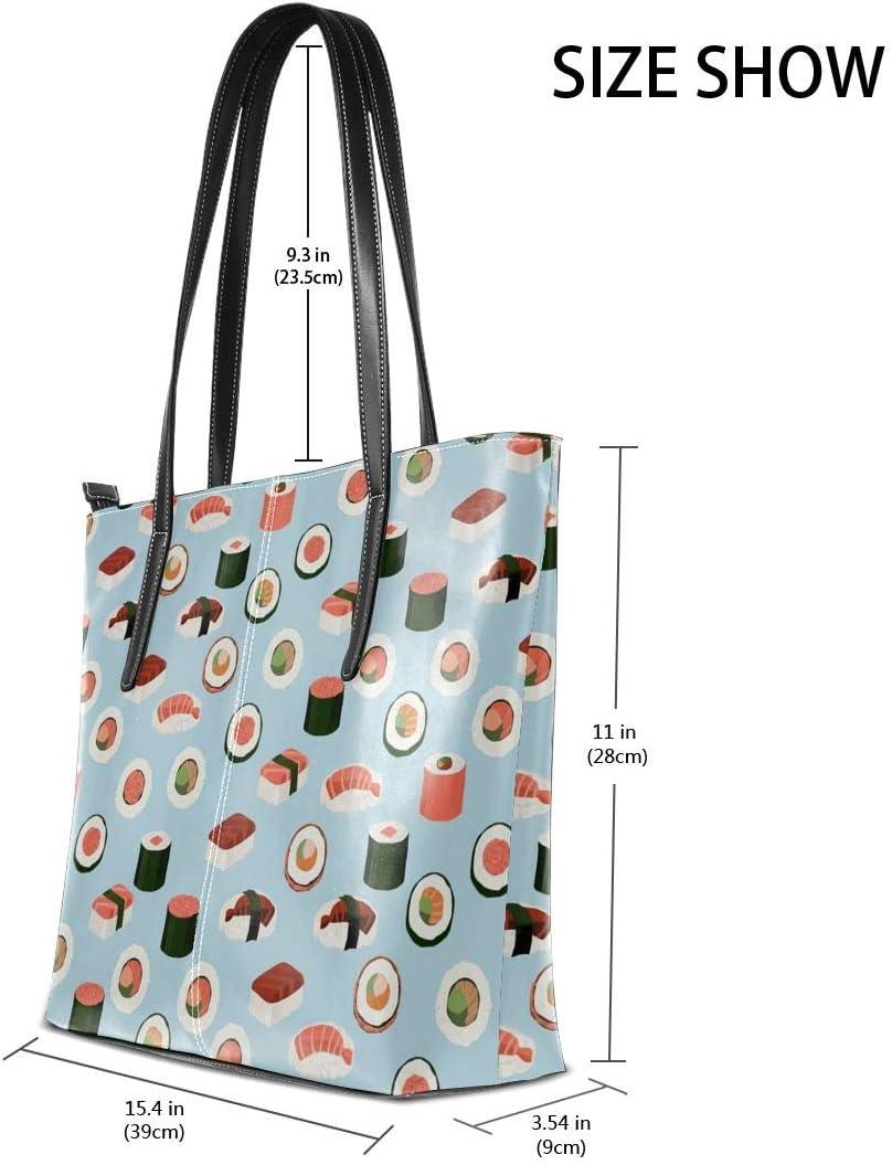 Best Cute Sushi Japanese Unagi Rice Roller Men Women Leather Tote Bags Satchel Top Handle Cross Body Shoulder Hobo Handbags For Ladies Shopping Bag Office Briefcase