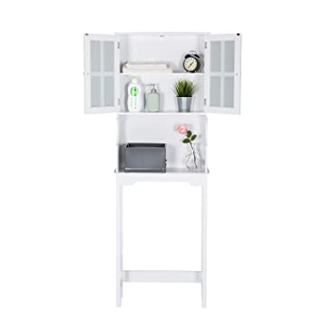Amazon Com Kinbor 3 Shelf Over The Toilet Bathroom Space Saver