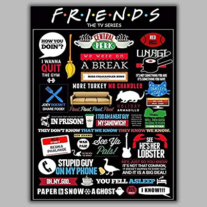 Friends Tv Series Hd Wallpaper Poster Amazon In Home Kitchen