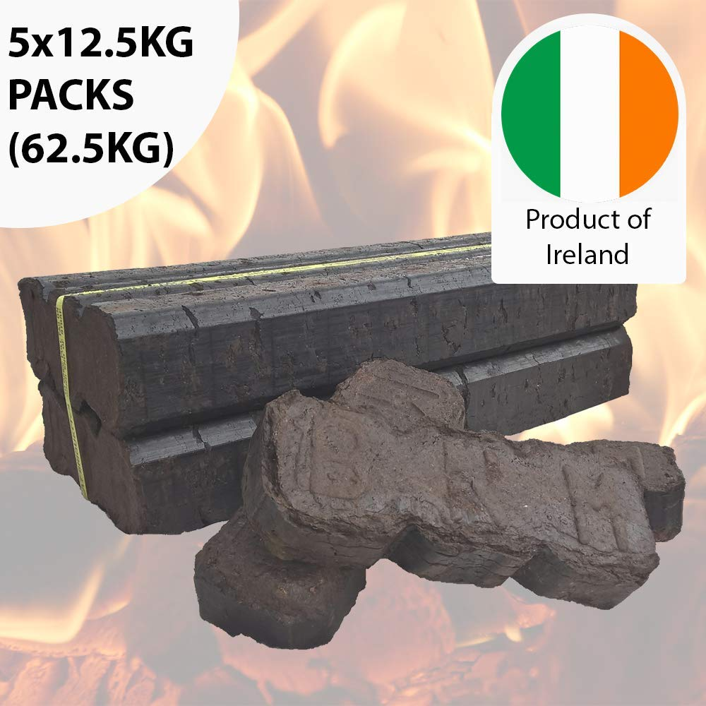 Hadley Bord na Mona Smokeless Irish Peat Briquettes 25KG 2 x 12.5KG