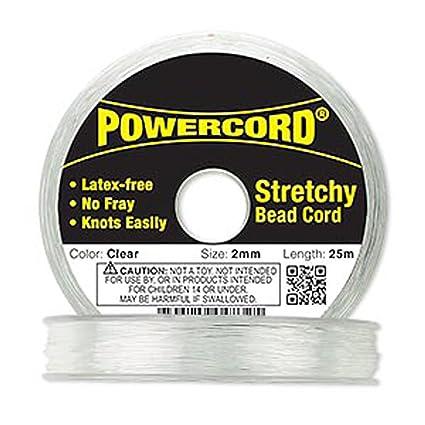 Powercord Sold Per 25-meter Spool. Elastic Clear 1mm Diameter 14-pound Test