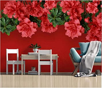 Zdbwjj Custom Mural 3d Photo Wallpaper Modern Red Rose Flower Tv Background Decor Living Room Wallpaper For Walls Christmas Halloween Holiday Gift 350cmx245cm Amazon Com