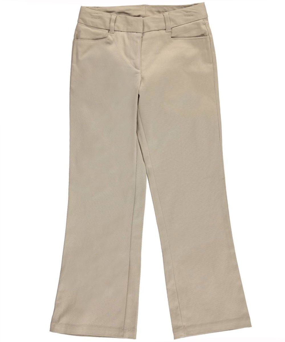 Nautica Girls' Uniform Stretch Twill Skinny Pant Twill Ankle Biter Pant