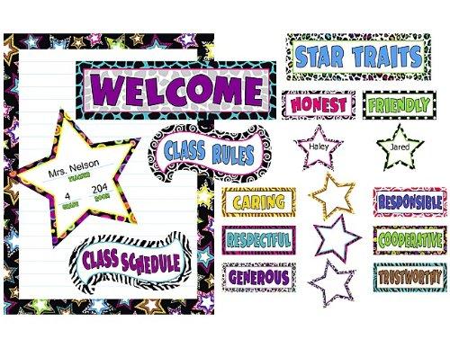 Rules Bulletin Board Set - Teacher Created Resources Fancy Stars Bulletin Board (5220)