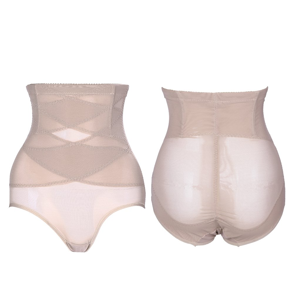 b8dac246dc6d3 teemzone Women Body Shapewear Tummy Firm for Dress Slimming Shaper But  Lifter High-Waisted Underwear for Women Waist Trainer (Nude