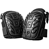Hirate Professional Knee Pads with Heavy Duty Foam Padding and Comfortable Gel Cushion for Construction, Gardening…