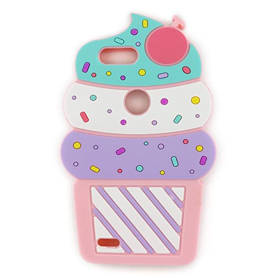 for ZTE Blade Z Max Case, ZTE Sequoia Case,3D Cute Cartoon Cherry Cupcakes