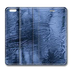 iPhone 6 Case, iPhone 6 Leather Case, Fashion Protective PU Leather Slim Flip Case [Stand Feature] Cover for New Apple iPhone 6(4.7 inch) - Fall Rain Reflection