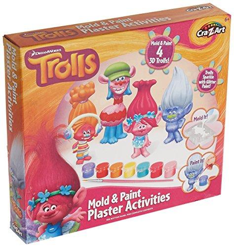 Cra Z Art Trolls Plaster Figurines Building
