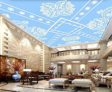 Y Hui 3d Blue Ceiling Wallpaper Ceiling Roof Wall Painting Tv
