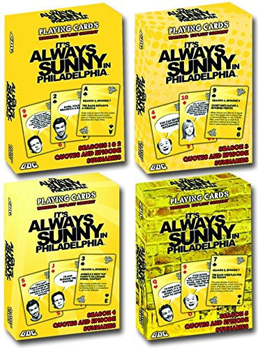 GDC-GameDevCo Ltd. It's Always Sunny in Philadelphia Playing Cards, 4-Pack