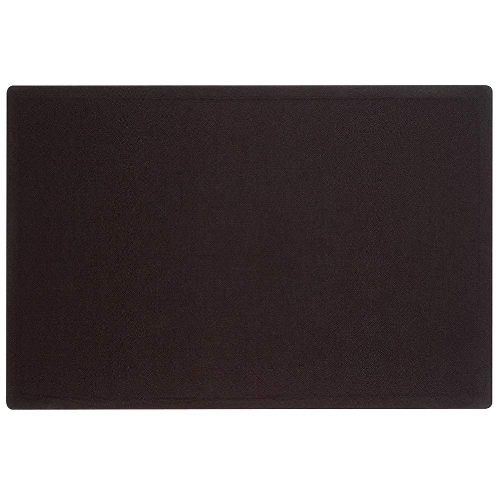 Quartet Bulletin Board, 4' x 3', Frameless, Fabric, Black (7684BK)