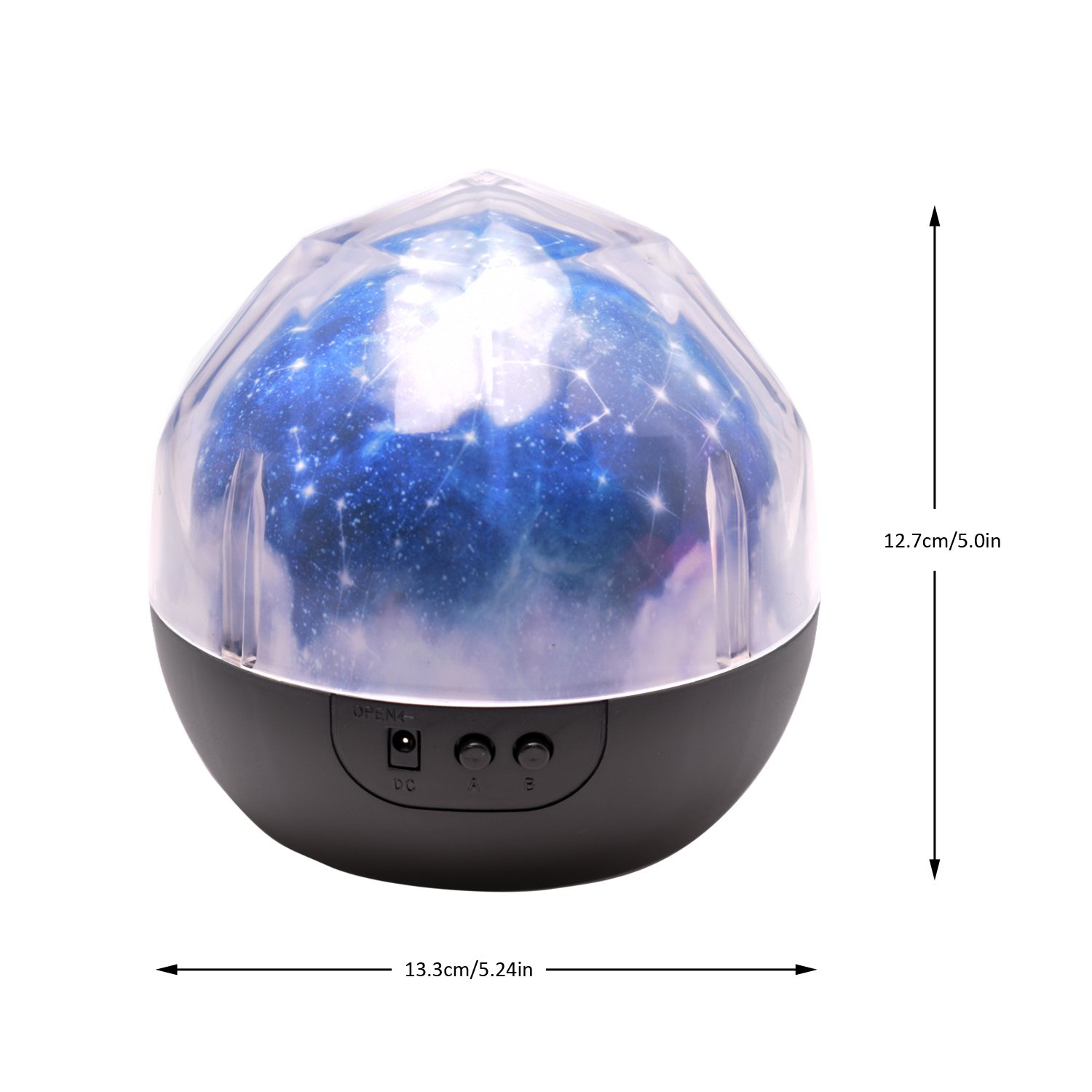 Star Night Light for Kids, Universe Night Light Projection Lamp, Romantic Star Sea Birthday New Projector lamp for Bedroom - 3 Sets of Film by Elmchee
