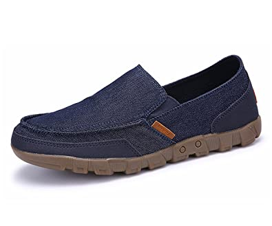 14ffc3455 BEFAiR Men s Slip On Canvas Casual Shoes Vintage Comfort Loafers Breathable  Boat Shoes for Outdoor Driving