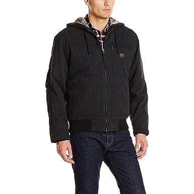 d7e0ddb4701 Walls Men's Jacksboro Muscle Back Hooded Jacket Kevlar, Midnight Black,  Medium