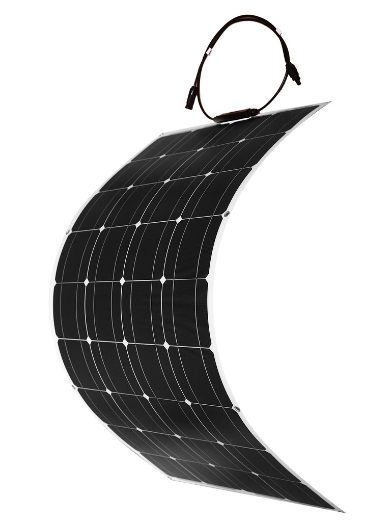DOKIO 100 Watt 12V/24v Monocrystalline Flexible Lightweight Solar Panel Bendable Solar Charger with MC4 for RV, Boat, Cabin, Tent, Car, Trailer, 12v Battery or Any Other Irregular Surface by DOKIO