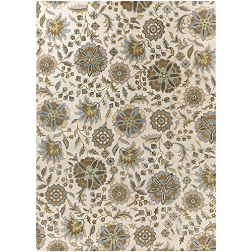 Surya Athena ATH-5063 Transitional Hand Tufted 100% Wool Ivory 6' x 9' Floral Area Rug Athena Sage Rug