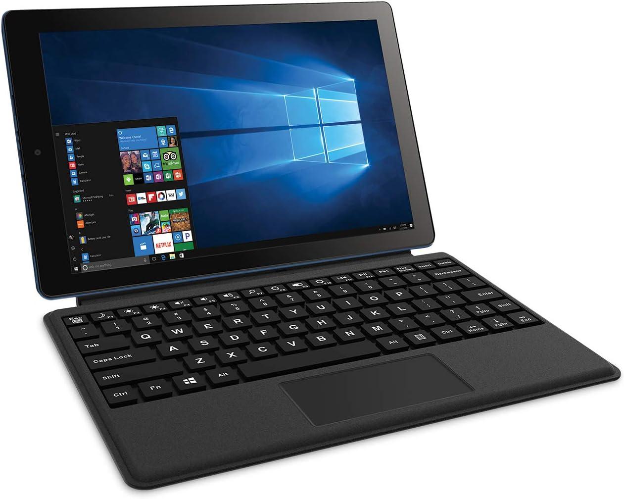 "2018 RCA Cambio High Performance 10.1"" 2-in-1 Touchscreen Tablet PC Intel Quad-Core Processor 2GB RAM 32GB Hard Drive Webcam WiFi Bluetooth Microsoft Office Mobile Windows 10"