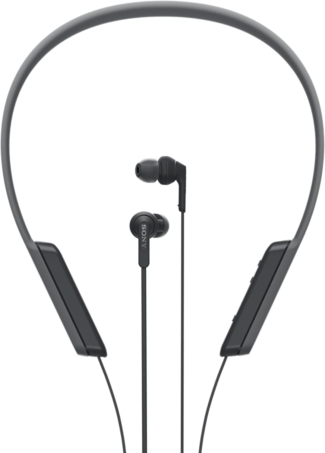 Sony MDR-XB70BT - Auriculares Bluetooth de contorno de cuello (EXTRA BASS, NFC, manos libres para Apple iPhone y Android, autonomía de 9 h), color negro