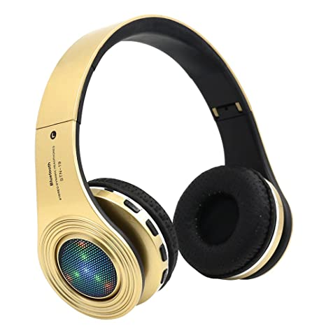 39afbfd379e Bluetooth Headphones Wireless,Over Ear LED Light Up Headset with Mic,Noise  Reduction,