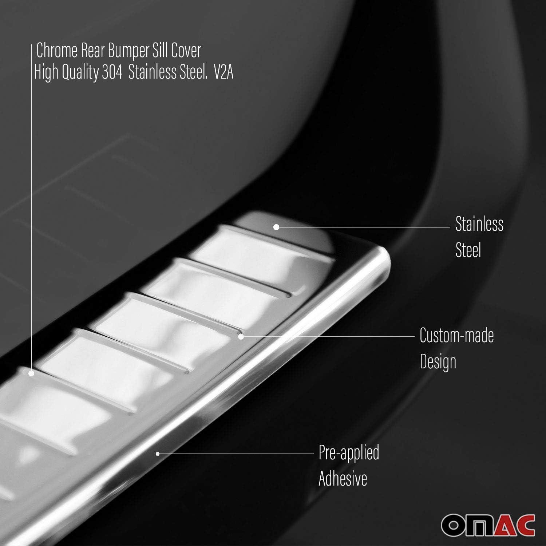 Fits Dodge Journey 2011-2020 Dark Chrome Rear Bumper Guard Trunk Sill Protector