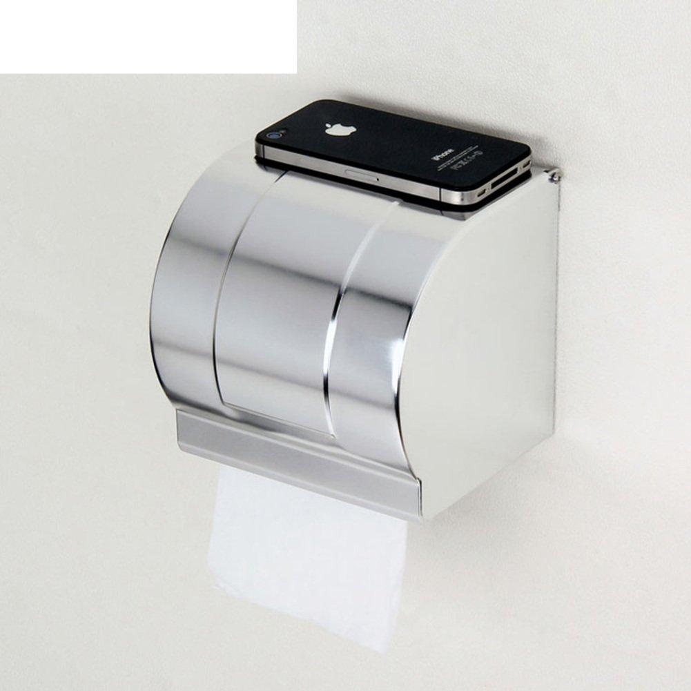 lovely space aluminum box Bathroom toilet paper holder Roll winder Tissues  holder