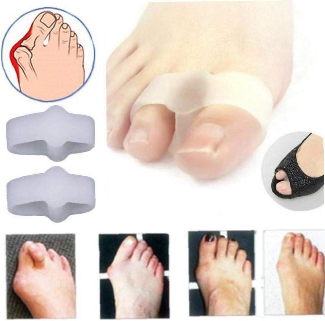 TOSSPER 1 2 Dolor Agujeros de Alivio juanetes Gel Separador de Dedos del pie Hallux valgus Aparato ortopédico de la Pierna Recta Care
