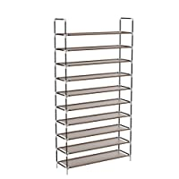 Deals on Sable Shoe Rack, 10 Tiers Shoe Rack w/Spare Parts