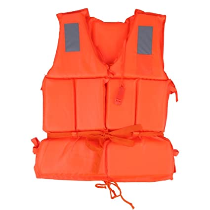 Camping & Hiking Back To Search Resultssports & Entertainment Boat Work Outdoor Drifting Adult Life-saving Vest Waterproof Adjustable Reflective Jacket Safety Vest with Life Whistle