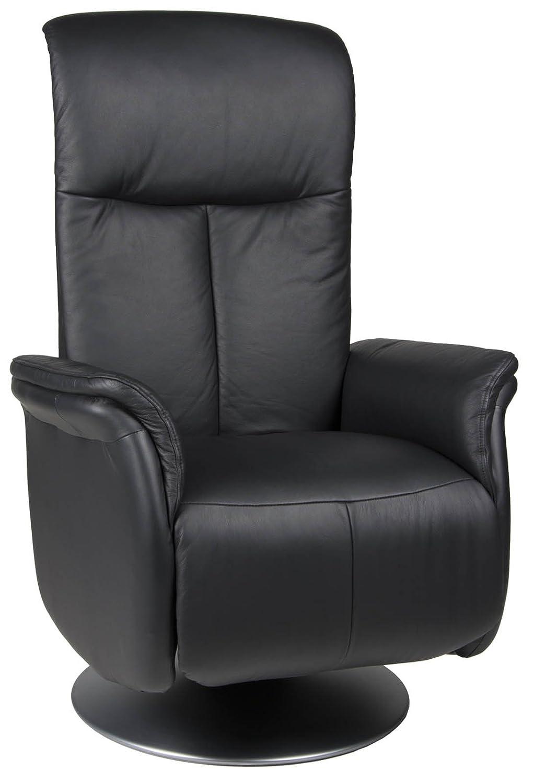 relax sessel fermo mit federkern u fu st tze leder schwarz g nstig online kaufen. Black Bedroom Furniture Sets. Home Design Ideas