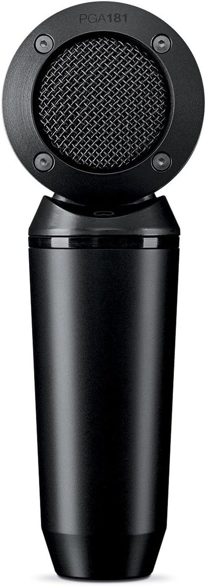 SHURE PGA181 - Micrófono de condensador cardioide de captación lateral con cable XLR a XLR