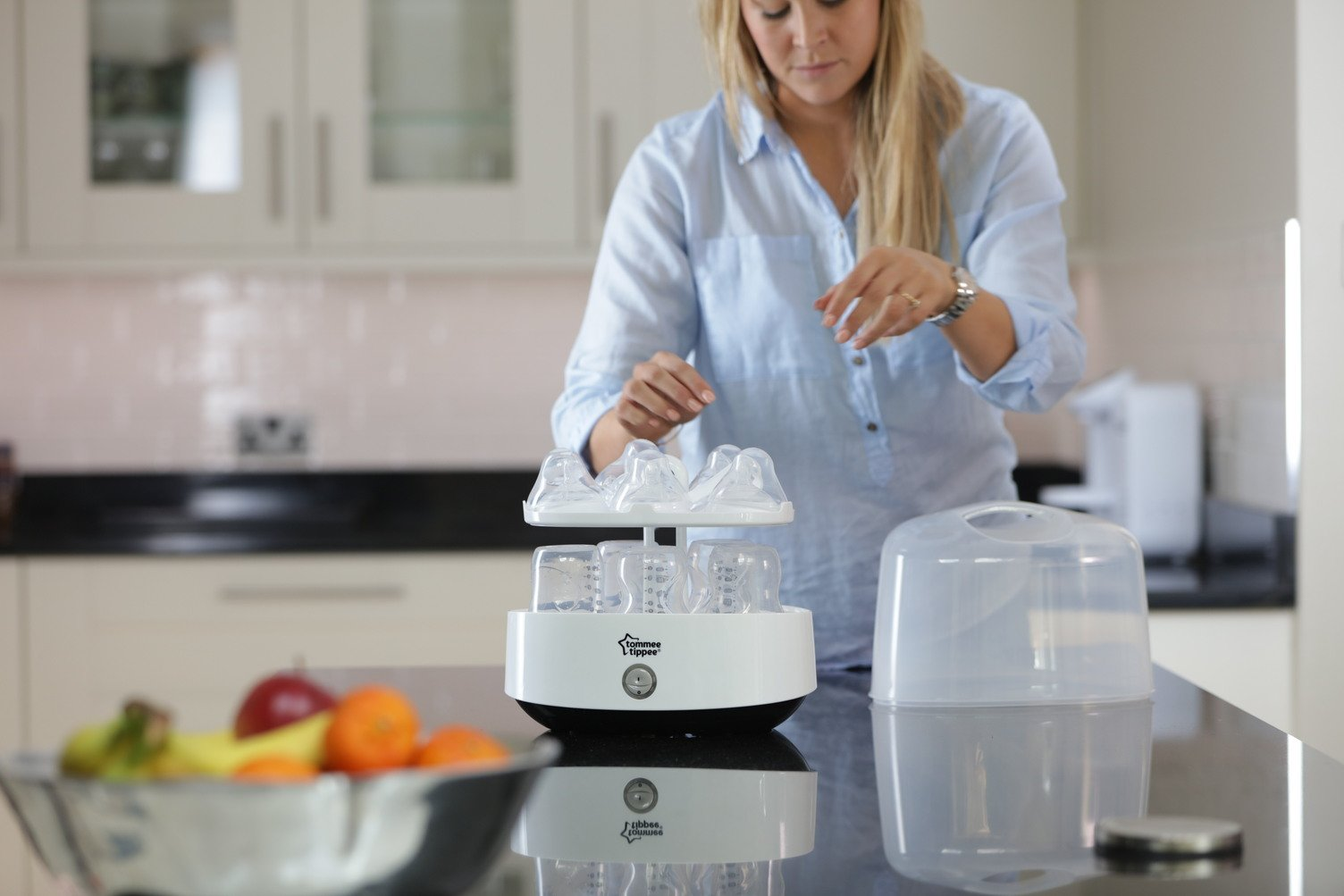 Tommee Tippee Electric Steam Baby Bottle Sterilizer - Sterilizes in 5 Minutes - BPA Free by Tommee Tippee (Image #7)