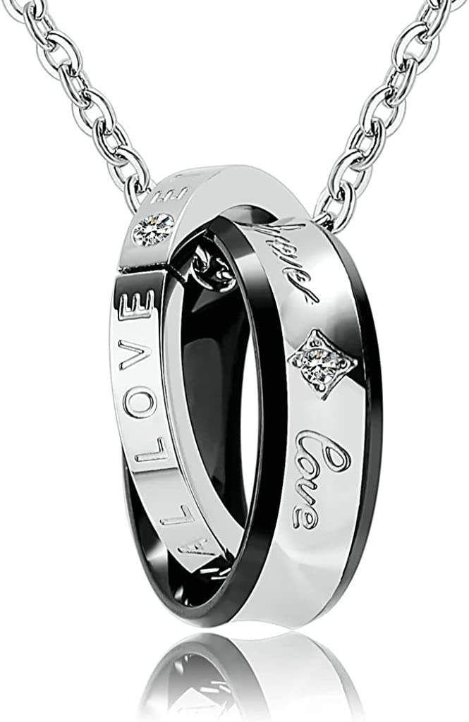 Epinki Stainless Steel Womens Mens Necklace Cubic Zirconia Cross