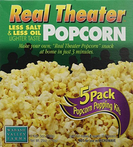 Wabash Valley Farms Popcorn All-Inclusive Popping Kits - Real Theater Less Salt & Less Oil Popcorn - 5 Pack - (Popcorn Boxes Canada)