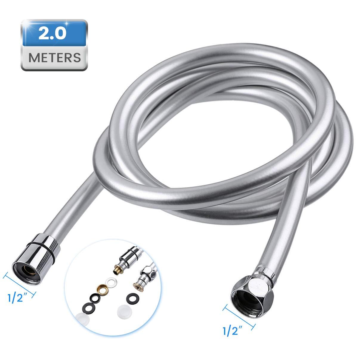Baban 2M Flessibile Doccia, Adatto a Tutti i Soffione Doccia, facile da installare e resistente ad alta temperatura. Quriccloy_IT