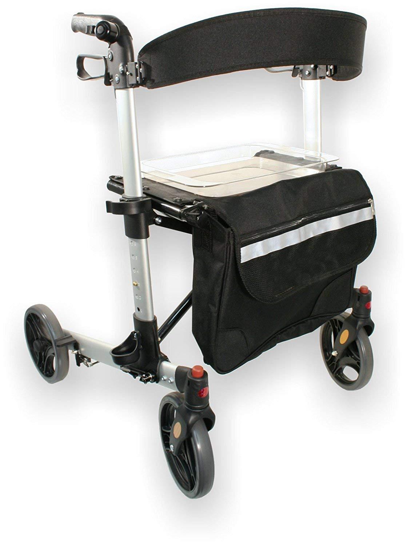 Weinberger Andador de aluminio con accesorios, plegable ...
