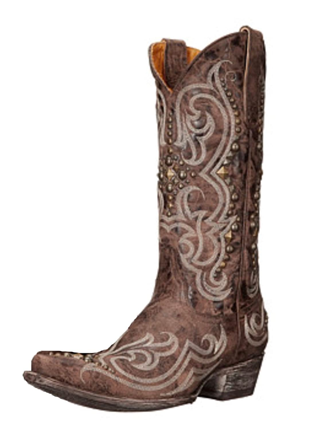 """Old Gringo Women's Dolce Stud 13"""" L2643-4 Chocolate Leather Boots"""