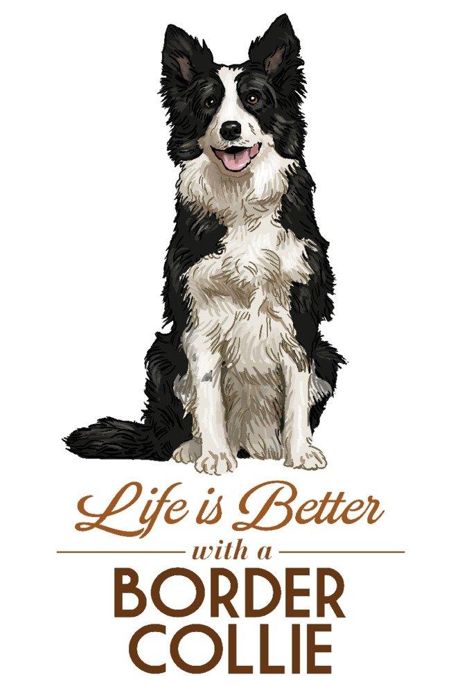 訳あり商品 ボーダーコリー – B07B2B7657 Life x Giclee Is Better – ホワイト背景 Canvas Tote Bag LANT-85817-TT B07B2B7657 36 x 54 Giclee Print 36 x 54 Giclee Print, タマカワムラ:e3ae14bd --- vezam.lt