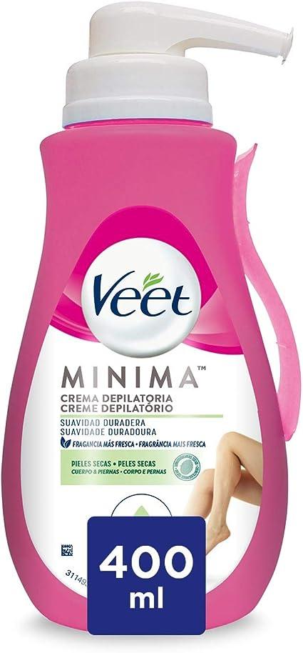 Veet Crema Depilatoria Corporal para Mujer, con Dosificador, Piel Normal y Seca, 400 ml: Amazon.es: Belleza