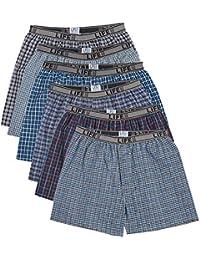 Men's Underwear Woven Plaid Boxer (6 Pack)