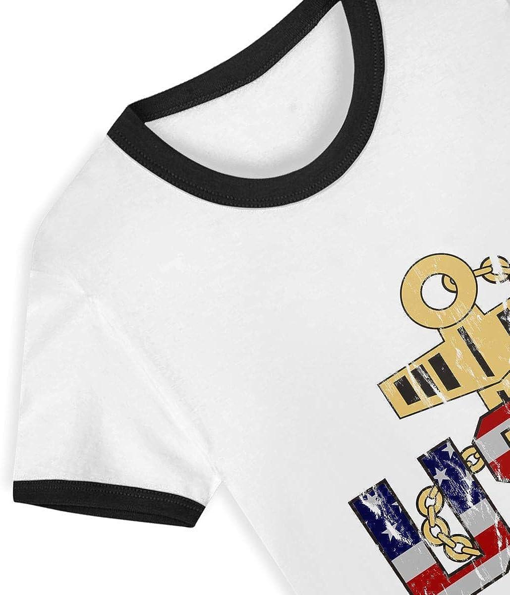 Gomop US Navy Chief Petty Officer Little Boys Short Sleeve Tee Kids Short T Shirts