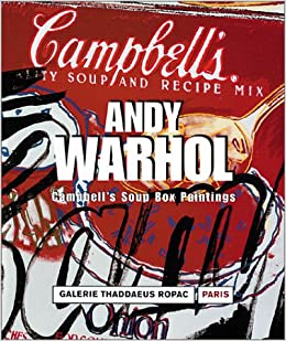 andy warhol campbells soup box paintings french edition