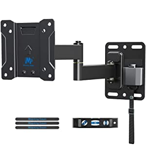TV Mount Lockable RV TV Mount for 10-26 Inch Flat Screen TV, RV Mount for Camper Marine Boat Trailer, Full Motion RV TV Wall Mount Easy One Step Lock up to VESA 100x100mm, 22 LBS Mounting Dream MD2209