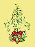 Caroline's Treasures 8501CHF Christmas Tree Fleur de lis Flag Canvas, Large, Multicolor Review